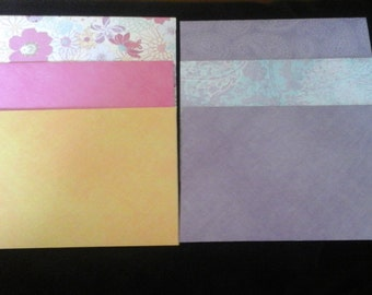 6  4x6 BEAUTIFUL ENVELOPES
