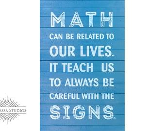 Math, Printable Poster, Motivational, Education