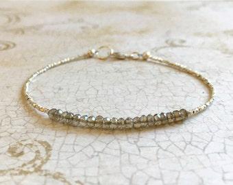 Mystic Quartz & Fine Silver Bracelet, Mystic Quartz Bracelet, Quartz Bracelet, Fine Silver Bracelet, Multi Gemstone Bracelet, Dainty Jewelry