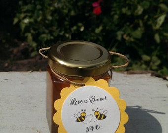Love is Sweet Honey Wedding or Anniversary Party Favors