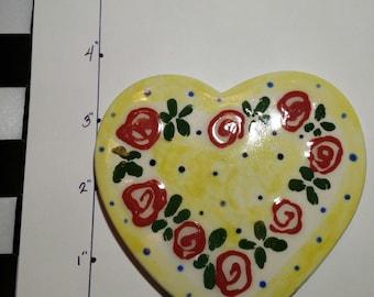 kiln fired ceramic heart