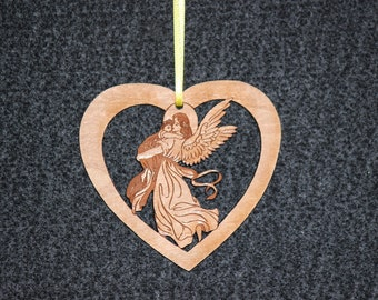 heart with angel and child