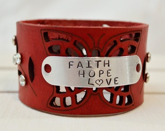 Butterfly Flair Leather Cuff