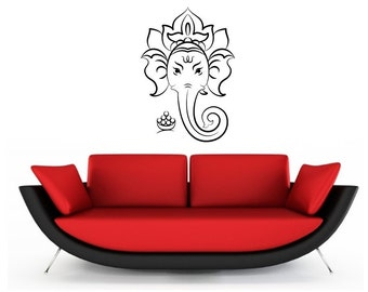 Hindu Elephant vinyl Wall Art sticker decal graphics decor home