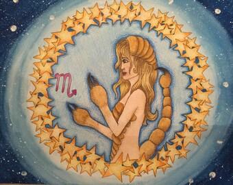 Fantasy painting: zodiac scorpio
