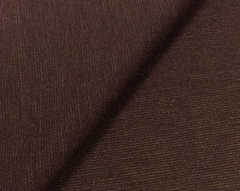 Jersey Knit Fabric With Spandex (Wholesale Price Available By The Bolt) USA Made Premium Quality - 10006 Chocolate - 1 Yard