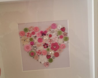 Love heart gift frame