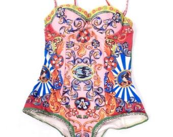 Vintage Italian Memories One Piece Swimsuit