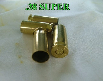 38 Super cases -  BRASS bullet replicas  For making earrings, cuff links, other jewelry