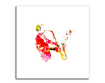 Sax Player HD Canvas