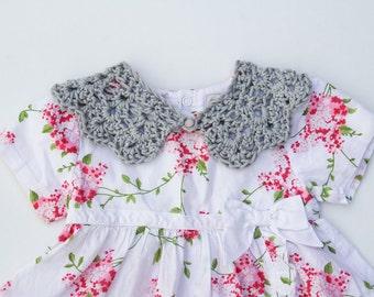 Crochet Collar PATTERN: Peter Pan Collar, Vintage Collar Pattern, Detachable Collar, Necklace Collar, Collars & Bibs, WeeYarn