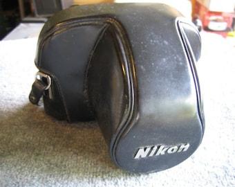 Nikon Black Leather Hard Everready Case For F2 Camera