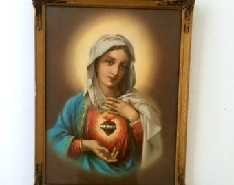 Sacred Heart Mary Framed Print