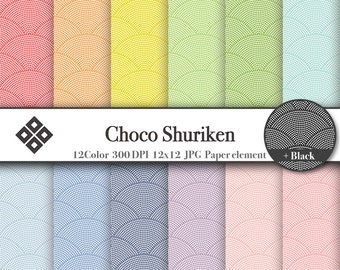 Japanese Pattern Digital Paper set Red,Orange,Green,Blue,Purple,etc…