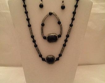 Black Onyx Jewelry Set