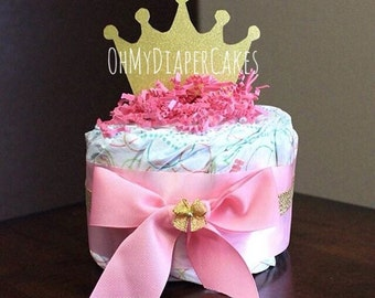 Three (3) Styles Princess Diaper Cake Centerpiece, Tutu Diaper Cake Centerpiece, Princess Baby Shower, Baby Shower Centerpiece, Baby Tutu