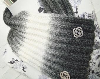 Loop scarf black/white