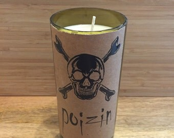 Poizin wine bottle candle