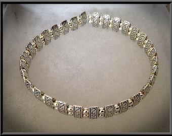 Handmade Silver Plated Tube Stretch Bracelet