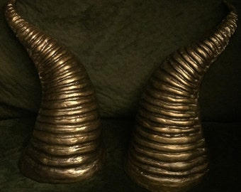 Goat Horns // Aged Gold // Costume Horns // REDUCED PRICE