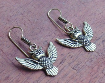 Flying Owl Earring | Brass Earring | Dangle Earring | Tribal Indian Earring | Bird Earring | Fashion Earring | Gift For Your Love One | E22