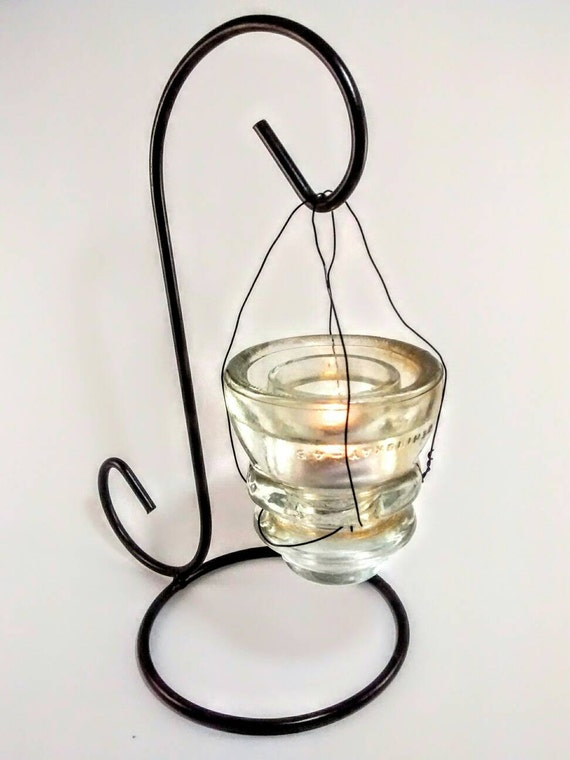Items similar to glass telephone conductor tea light for Glass conductors