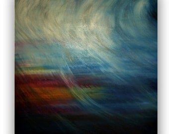 Oil painting, decoration, wall painting, oil painting title: storm Birgithell