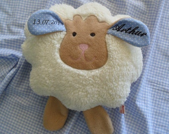 Personalized baby pillow sheep Mathilda ©® 10 inch x 14 inch 25 x 35 cm