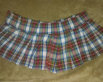 Plaid Tartan Mini Skirt Private School girl Scottish