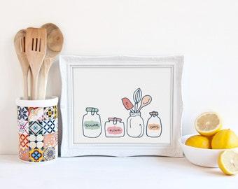 Kitchen Jars Wall Art (Digital Download)