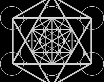Metatron Design Vector Digital Drawing