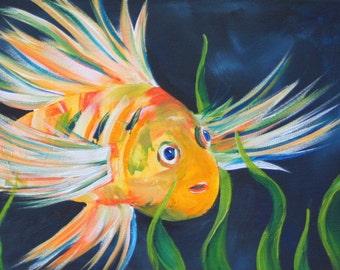 "Acrylic Painting titled ""Undersea Wonder"""