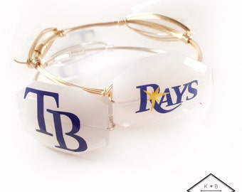 Tampa Bay Rays Set - Rays Bangle - TB Rays - Rays Baseball - Rays Bracelet - 2 for 25