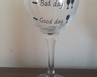 Good day ... Bad day ... Don't ask wine glass