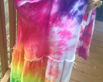Rainbow tie-dye dress