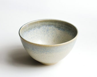 Handmade Bowl with unique bluish glaze / / dish for breakfast, snacks or as a decoration / / Tea Cup, cereal Bowl