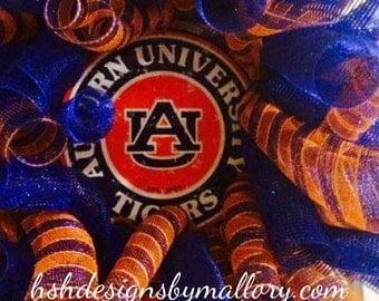 Auburn University Wreath - Fall Football Wreath - Tigers Football Wreath -AU tigers Wreath - Deco Mesh Auburn University Wreath