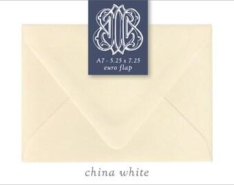 China White | 10 Blank A7 Euro Envelopes