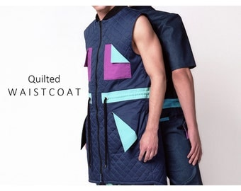 Quilted vest for men