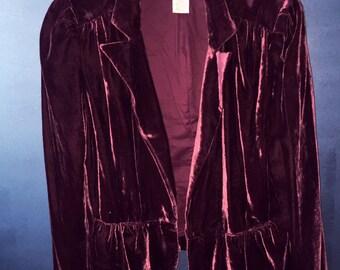 60s style Uniform Velvet Blazer