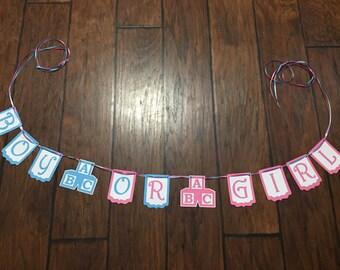 Boy or Girl Gender Reveal Banner