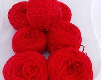 Red yarn, cotton yarn, wool yarn, crochet yarn, knitting yarn, yarn lot, cheap yarn, super fine yarn, sock yarn, fingering yarn, baby yarn