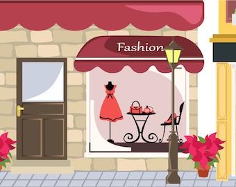 Magnetic Receptive Scene / Background - Fashion Shop