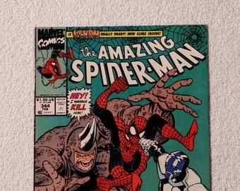 VF+ 1st Carnage! #344 Amazing Spider-Man (1990)