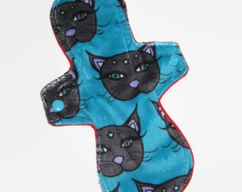 """10"""" moderate, minky topped cloth pad"""