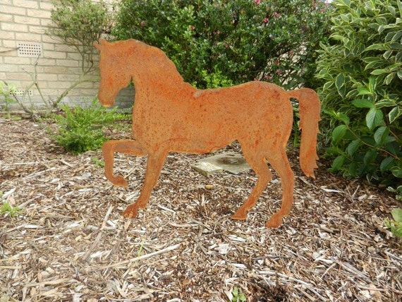 Rusty Horse / Horse Garden Decor / Horse Gift / Horse Ornament / Metal  Garden Ornament / Rusty Metal Horse / Garden Horse / Stallion / Mare