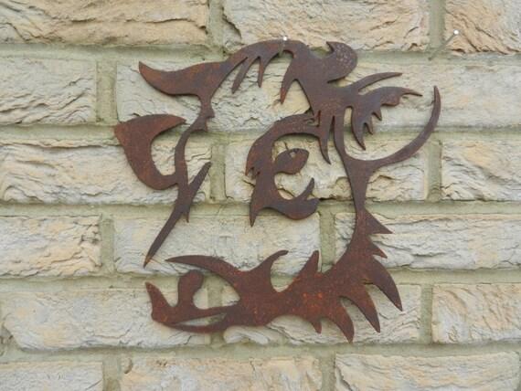 Cow Head Cow Garden Art Rusty Metal Art Garden
