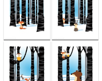 Woodland Series - Set/4 limited edition prints (No 5)