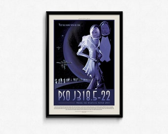 Vintage Space Travel PSO Art Print