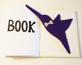 "Hummingbird Bookmark 11""X 3""Unique Bookmark,Bird Bookmark,Book Lovers Bookmark,Custom Bookmark,Bookmark,Reader Gift,Handmade Bookmark,Gifts"
